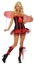 Sexy Lady Bug with Wing Bells Adult Halloween Costume