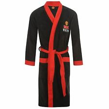 Manchester United FC Official Kids Dressing Gown Bath Robe 4-9 Years Man Utd BN