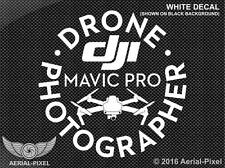DJI Mavic Pro Drone Photographer Window Decal Sticker Black, White or Red
