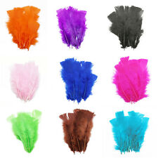 fluffy marabou dyed turkey feathers Arts Craft Millinery Costume Size 4-6 inches