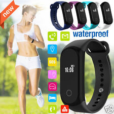 OLED Bluetooth Health Bracelet Heart Rate Monitor Smart Watch for iPhone Android
