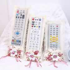 NewDurable Bowknot Lace Remote Control Dustproof Case Cover TV Control Protector