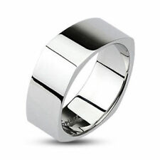 Stainless Steel Polished Square Ring Band Size 5,6,7,8,9,10,11,12,13,14 (FL148)