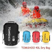 New 40L Black Waterproof Pouch Dry Bag for Kayaking Canoeing Rafting Floati W0X5