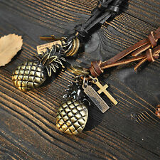 NEW Infinity Design Pineapple Leather Pendant Necklace And Personality Gift
