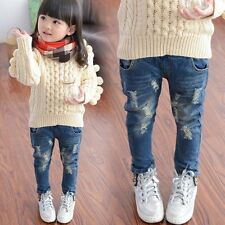 NEW Kids Girls Boys Ripped Jeans Fashion Clothing Trousers Pants Size 2-7 Years