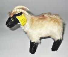 "Steiff Vintage Fuzzy & Mohair Ram Billy Goat, 5"" by 5 1/2"""