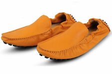 2 Color US Size 5-11  Slip On Leather Mens Driving Moccasin Loafers Casual Shoes