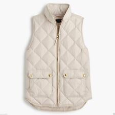 NWT J.Crew Excursion Quilted Puffer Down Vest Size Medium BLEACHED SAND