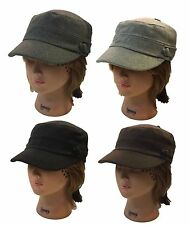 Ladies Men Cadet Box Cap Army Military Fashion Castro Wool Hat Cap