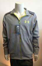 UNDER ARMOUR Cold Gear Performance Fleece Zip Jacket STORM Water Resistant GRAY