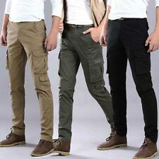 New Size Mens Straight Military Overalls Casual Pockets Pants Trousers