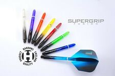 3 SETS OF HARROWS SUPERGRIP FUSION DART STEMS SHAFTS - 8 COLOURS -  3 SIZES