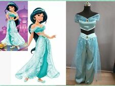 Adult Aladdin Jasmine Princess Holloween Cosplay Costume Belly Dance Fancy Dress