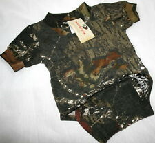 MOSSY OAK CAMOUFLAGE BABY INFANT DIAPER SHIRT - CAMO SNAP SHIRT, CREEPER
