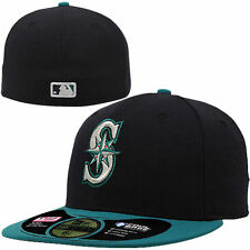 SEATTLE MARINERS MLB ON FIELD AUTHENTIC NEW ERA 59FIFTY FITTED NAVY HAT/CAP NWT