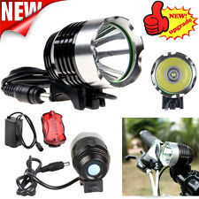 6000Lm Bike Bicycle Headlight XM-L T6 LED Headlamp Head Light USB Rechargeable