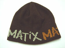 (FREE SHIPPING) New MATIX 100% ACRYLIC BEANIE BROWN MADE IN CANADA