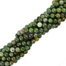 "Round Jade Gemstone Spacer Loose Beads 15"" Strand Jewelry Making Findings"