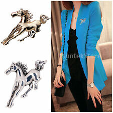 Fashion Metal Alloy Tone Horse Brooch Broach Pin Jewelry Bridal Wedding Gift