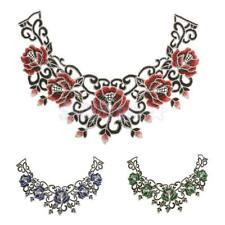 Phenovo Ethnic Lace Embroidery Floral Neckline Neck Collar Trim Sewing Appliques