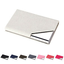Men Wallet Business Stainless Steel Name Credit ID Card Holder Pocket Case QW