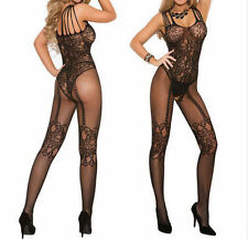 Sexy Womens Open Crotch Stockings Crotchless Fishnet Sheer Body Dress Lingerie