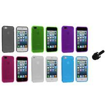 TPU Mesh Perforated Color Rubber Skin Case Cover+Mini Stylus for iPhone 5 5S 5th