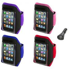 Gym Sports Armband Case Cover+Car Charger for iPod Touch 4th 3rd 2nd Gen 4G 3G