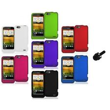 Color Hard Snap-On Rubberized Case Cover Accessory+Mini Stylus for HTC One V