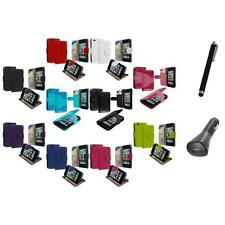 For iPod Touch 4th Gen 4G Wallet Leather Pouch Cover Case Holder+Charger+Pen
