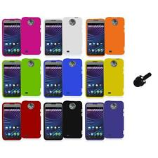 For ZTE Sprint Vital N9810 Hard Snap-On Rubberized Case Cover+Mini Stylus