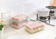 15 Egg Storage Case Holder Box Refrigerator Crisper Storage Portable Egg Cell