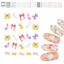2 Sheets Nail Art Transfer Stickers 3D Flower Manicure Tips Decal Decoration DIY