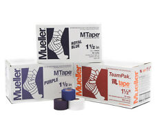 MUELLER 1.5in MTape Athletic Sports Tape Case of 32 Rolls Multiple Colors - NEW