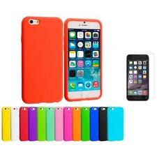For Apple iPhone 6 (4.7) Silicone Case Cover+Clear Screen Protector Film