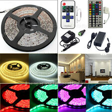 5M 10M 20M LEDS SMD 5050 RGB Flexible Strip String Light(Remote+Power)Waterproof