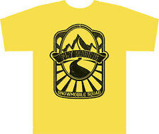 Fly Racing Mens Snowmobile Squad T-Shirt Short Sleeve Premium Fit Tee Yellow