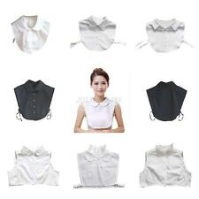 Women Detachable Peter Pan Lapel Shirt Fake False Collar Choker Necklace Shirts