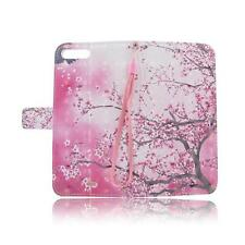 Pink Flower Flip Leather Case Cover Folio Pouch For Apple iPhone 7 7Plus