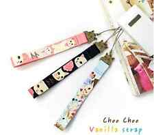 Jetoy Rare Choo Choo Vanilla Kitty Cat key chain mobile phone strap -Pink/Black