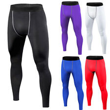 Mens Sport Football Basketball Gym Football Under Compression Long Pants Tights