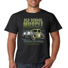 Classic Car T Shirt Old School Muscle Outlaw Garage Hot Rod Mens