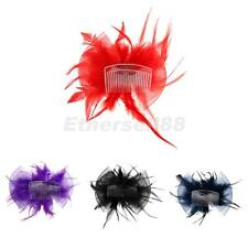 Feather Flower Bridal Hair Clip Brooch Pin Women Hair Accessory Wedding Party