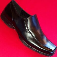 Men's APT. 9 REID Black Leather Loafers Slip On Formal Casual Dress Shoes New