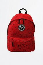HYPE JUST HYPE  Red Black Speckle Mens Womens Unisex Backpack Rucksack Bag