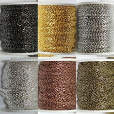 5/10M Cable Open Link Iron Metal Chain Findings 6 Colors (Each ring about:2x3mm)