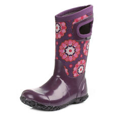Kids Girls Bogs Kaleidoscope Purple Multi Wellies Wellington Boots Sz Size