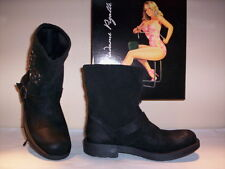 Shoes boots ankle boots woman suede studs black new 37 38 39 40