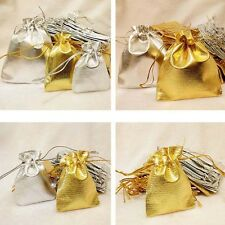 100pcs Drawstring Organza Wedding Party Favour Gift Bags Candy Jewelry Pouches